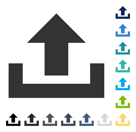 Upload icon. Vector illustration style is flat iconic symbol in some color versions. Illustration