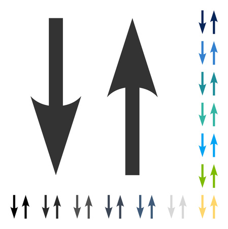 Vertical Exchange Arrows icon. Vector illustration style is flat iconic symbol in some color versions.