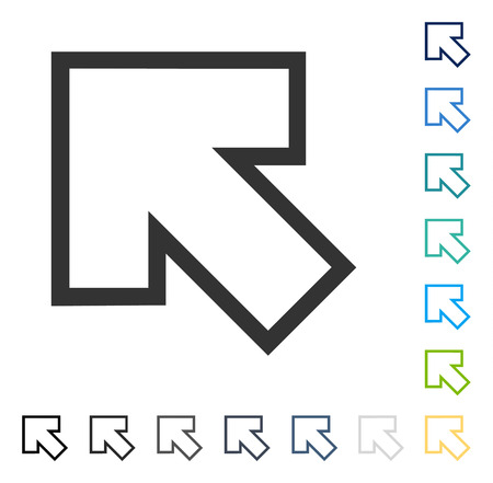 Arrow Left Up icon. Vector illustration style is flat iconic symbol in some color versions. Illusztráció