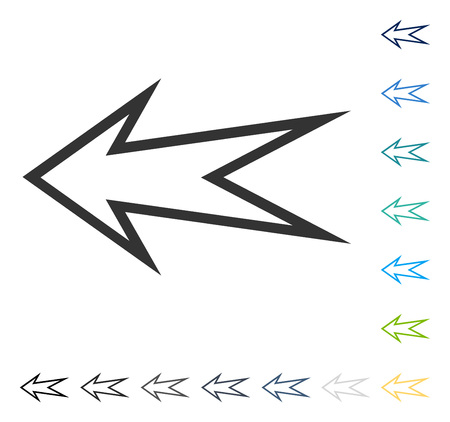 shift: Arrow Left icon. Vector illustration style is flat iconic symbol in some color versions. Illustration