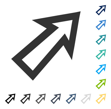 northeast: Arrow Right Up icon. Vector illustration style is flat iconic symbol in some color versions. Illustration