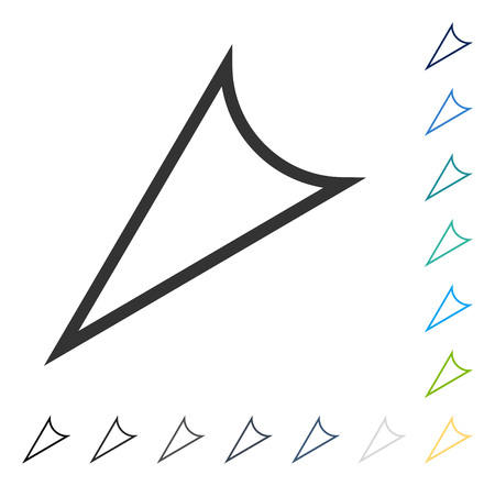 Arrowhead Left Down icon. Vector illustration style is flat iconic symbol in some color versions. 向量圖像