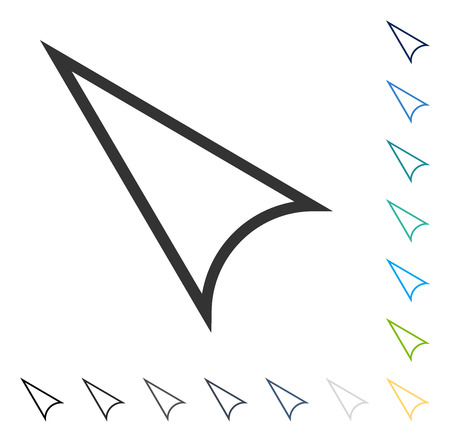 Arrowhead Left Up icon. Vector illustration style is flat iconic symbol in some color versions.