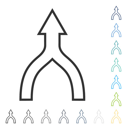 Connect Arrow Up icon. Vector illustration style is flat iconic symbol in some color versions.