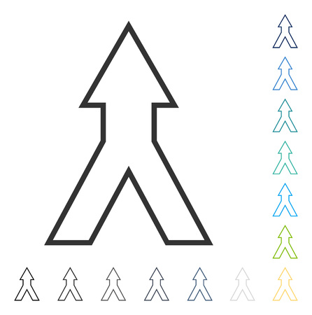 consolidate: Connect Arrow Up icon. Vector illustration style is flat iconic symbol in some color versions.