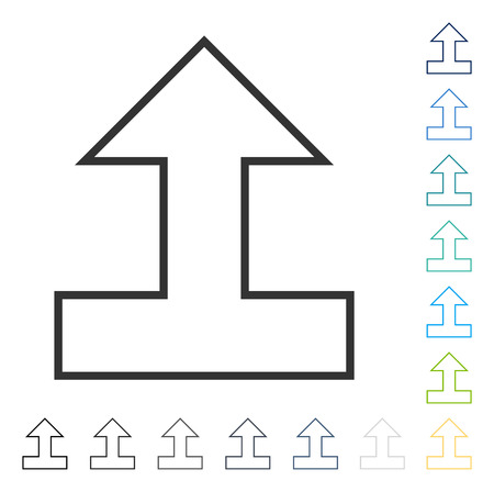 converge: Connect Arrow Up icon. Vector illustration style is flat iconic symbol in some color versions.