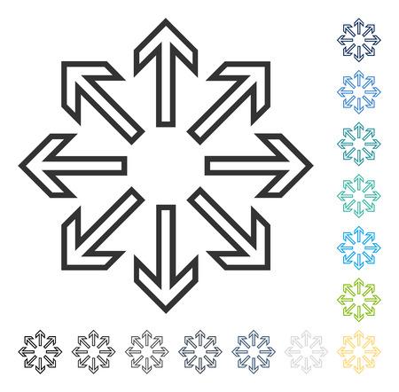 Explode flèches icône. Style d'illustration vectorielle est le symbole emblématique plat dans certaines versions de couleur. Banque d'images - 82971195