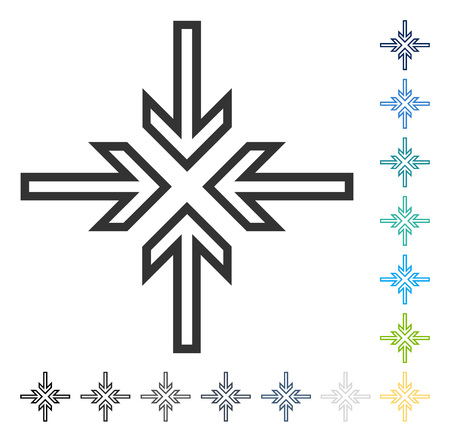 Implode Arrows icon. Vector illustration style is flat iconic symbol in some color versions.