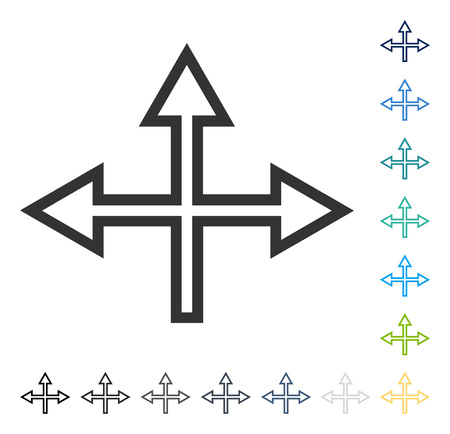 Intersection Arrows icon. Vector illustration style is flat iconic symbol in some color versions. Vectores
