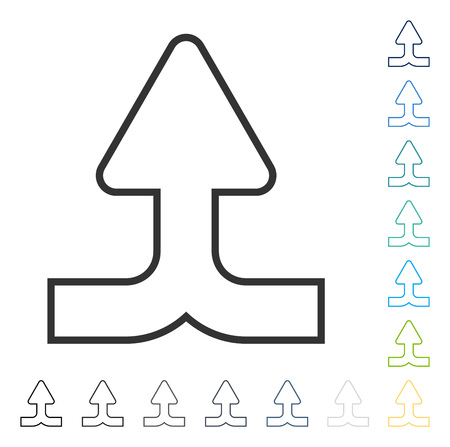 converge: Merge Arrow Up icon. Vector illustration style is flat iconic symbol in some color versions.