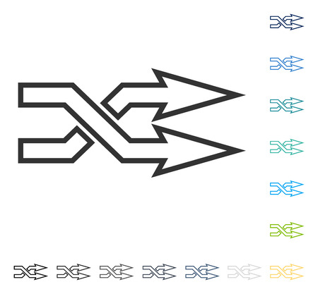 shuffle: Mix Arrows Horizontal icon. Vector illustration style is flat iconic symbol in some color versions.