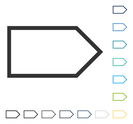 Pointer Right icon. Vector illustration style is flat iconic symbol in some color versions.