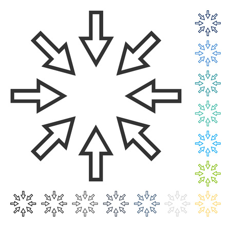 shrink: Pressure Arrows icon. Vector illustration style is flat iconic symbol in some color versions.