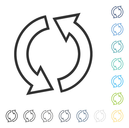 Refresh Arrows icon. Vector illustration style is flat iconic symbol in some color versions.