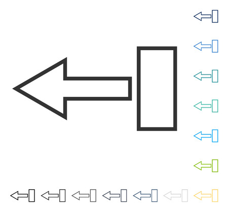 shift: Pull Arrow Left icon. Vector illustration style is flat iconic symbol in some color versions.