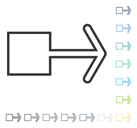 penetrating: Pull Arrow Right icon. Vector illustration style is flat iconic symbol in some color versions.