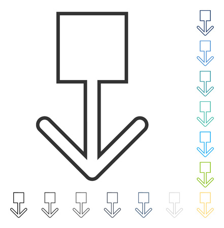 Pull Down icon. Vector illustration style is flat iconic symbol in some color versions. Illustration