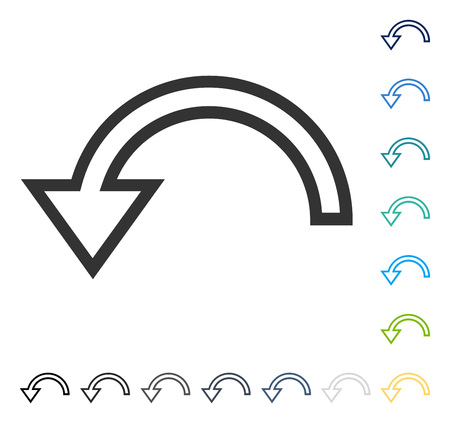 Rotate Left icon. Vector illustration style is flat iconic symbol in some color versions. Illustration