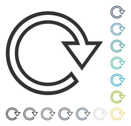 Rotate Right icon. Vector illustration style is flat iconic symbol in some color versions.