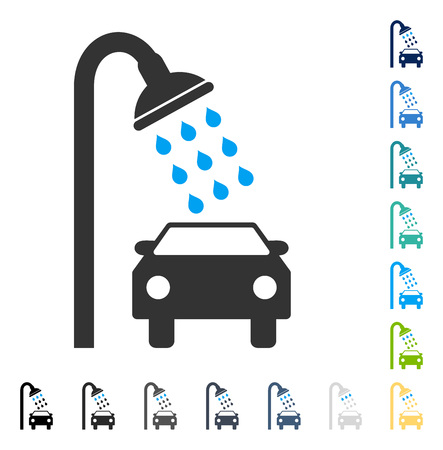 Car Shower icon. Vector illustration style is flat iconic symbol in some color versions. Illustration