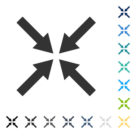 Center Arrows icon. Vector illustration style is flat iconic symbol in some color versions. Ilustração