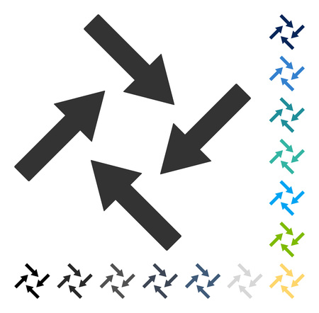 Centripetal Arrows icon. Vector illustration style is flat iconic symbol in some color versions.