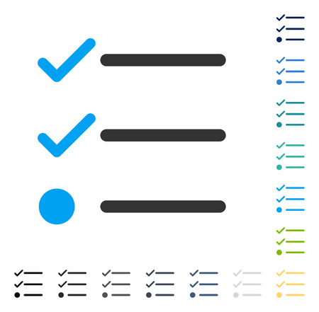 checklist: Checklist icon. Vector illustration style is flat iconic symbol in some color versions. Illustration