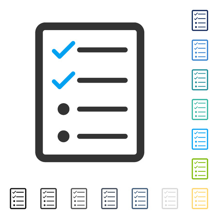Checklist Page icon. Vector illustration style is flat iconic symbol in some color versions.