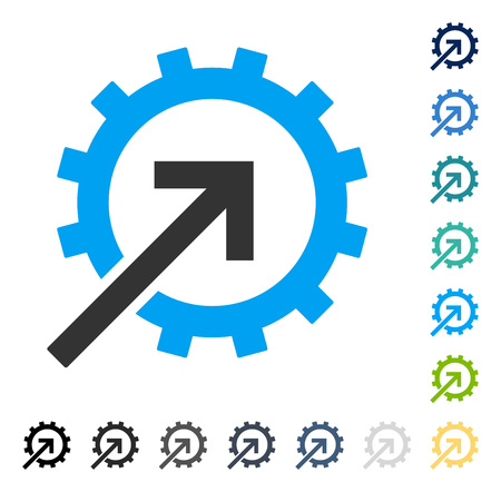 Cog Integration icon. Vector illustration style is flat iconic symbol in some color versions. Illustration