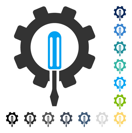 setup: Engineering icon. Vector illustration style is flat iconic symbol in some color versions.