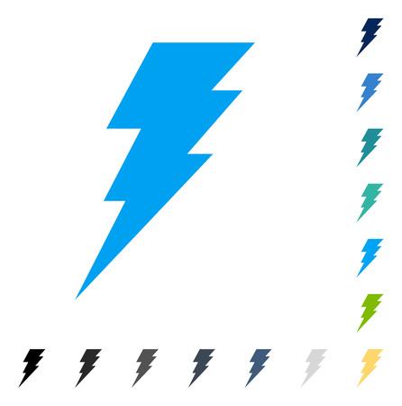 Ejecutar ícono. El estilo de la ilustración del vector es símbolo icónico plano en algunas versiones del color. Ilustración de vector