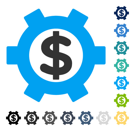 setup: Financial Settings icon. Vector illustration style is flat iconic symbol in some color versions. Illustration