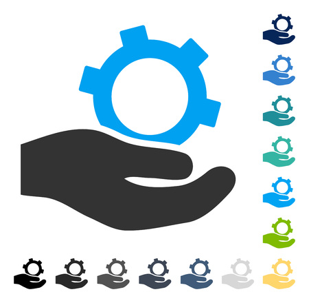 setup: Engineering Service icon. Vector illustration style is flat iconic symbol in some color versions.