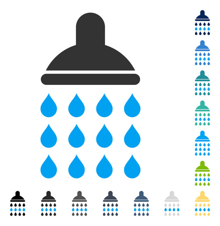 Shower icon. Vector illustration style is flat iconic symbol in some color versions.
