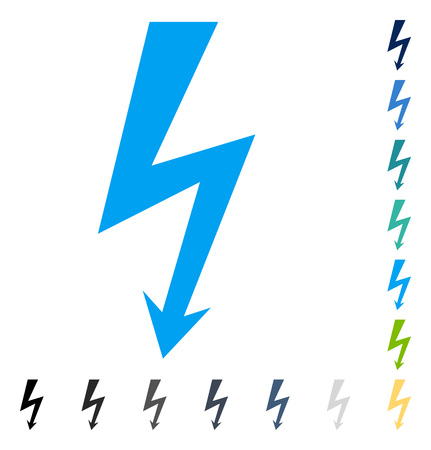 high voltage symbol: High Voltage icon. Vector illustration style is flat iconic symbol in some color versions.