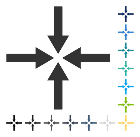 Impact Arrows icon. Vector illustration style is flat iconic symbol in some color versions.