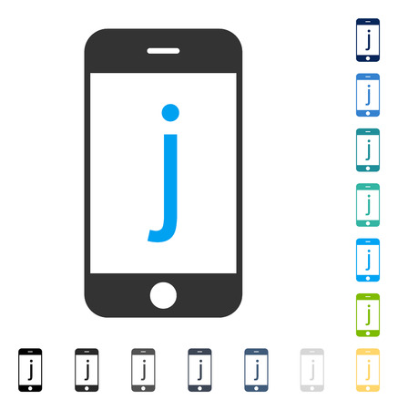 touchpad: J Phone icon. Vector illustration style is flat iconic symbol in some color versions. Illustration