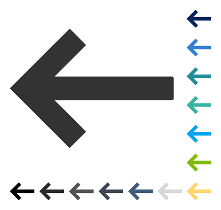 shift: Left Arrow icon. Vector illustration style is flat iconic symbol in some color versions. Illustration