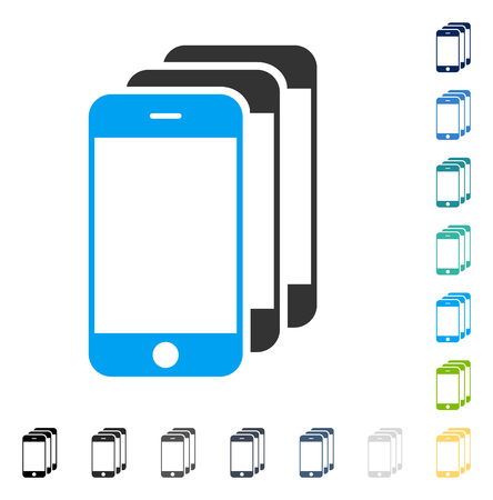 Mobile Phones icon. Vector illustration style is flat iconic symbol in some color versions. Illustration
