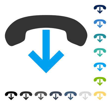 Phone Hang Up icon. Vector illustration style is flat iconic symbol in some color versions.