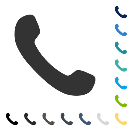 Phone Receiver icon. Vector illustration style is flat iconic symbol in some color versions.