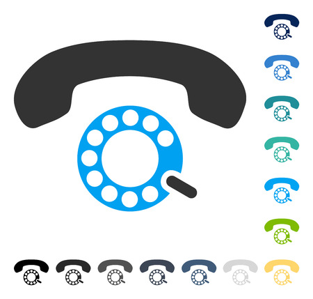 Pulse Dialing icon. Vector illustration style is flat iconic symbol in some color versions. Illusztráció