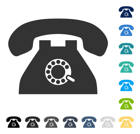 Pulse Phone icon. Vector illustration style is flat iconic symbol in some color versions.