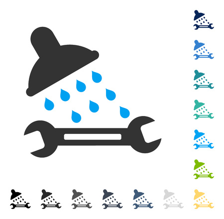 setup: Shower Plumbing icon. Vector illustration style is flat iconic symbol in some color versions. Illustration