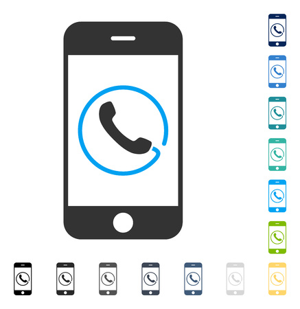 touchpad: Smartphone Phone icon. Vector illustration style is flat iconic symbol in some color versions.