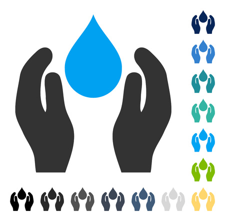 Water Care icon. Vector illustration style is flat iconic symbol in some color versions.