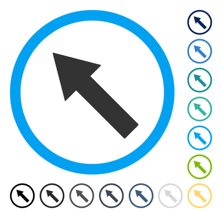 Up-Left Rounded Arrow icon. Vector illustration style is flat iconic symbol in some color versions. Illusztráció