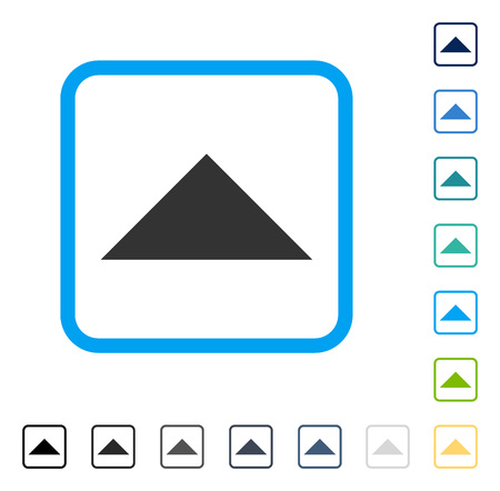 Arrowhead Up icon inside rounded square frame. Vector illustration style is a flat iconic symbol in some color versions. Illustration