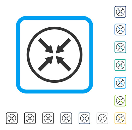 Center Arrows icon inside rounded square frame. Vector illustration style is a flat iconic symbol in some color versions.