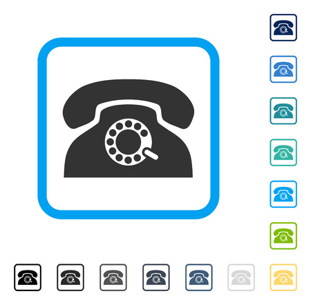 Pulse Phone icon inside rounded square frame. Vector illustration style is a flat iconic symbol in some color versions.
